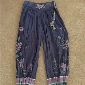 OOAK Handmade Batik Harem style yoga pants